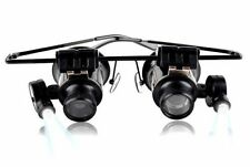 Magnifier Glass 20X Eye Jewelers Loupe Magnifying Lighted Illuminated Frame