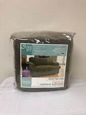 Stretch Pique  t cushion Loveseat Slipcover Taupe Sure Fit