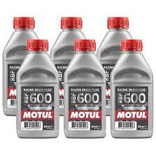 Motul RBF 600 FL - 3L AM - Fully Synthetic DOT 4 Racing Brake Fluid (6 x 0.5L)