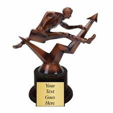 Businessman Hurdler Top Sales Trophy with 4 lines of custom text