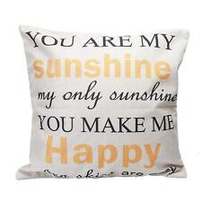 You Are My Sunshine Letters Linen Pillow Case Chic Cushion Cover Home Decor S