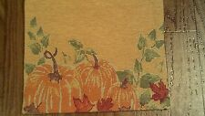 "TABLE RUNNER, FALL/THANKSGIVING,  WITH PUMKINS ON EACH END, TAPESTRY 13"" X 36"""