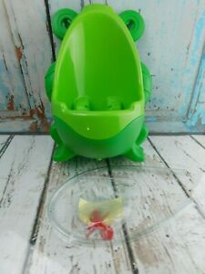 Frog Potty Training Boys Toddler Urinal w/Aiming Target Wall-Mount