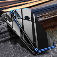 For Huawei Honor 8X /Max, Hybrid Transparent Plating Soft Clear TPU Case Cover