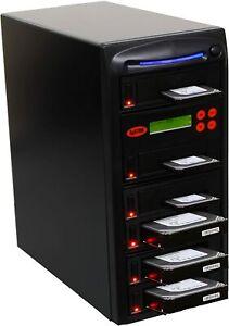 "SySTOR 1:5 SATA 3.5"" 2.5"" Hard Disk Drive HDD/SSD Duplicator Sanitizer -600MB/s"