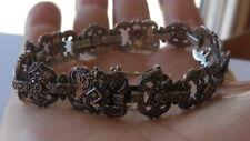 Elegant Art Deco Sterling Silver, Marcasite bracelet, marked STERLING, 19cm, 22g