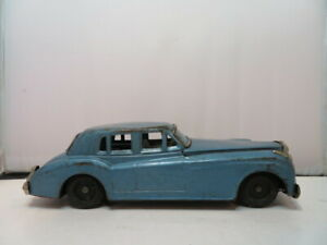 "Yonezawa Tin Friction 8"" Rolls Royce Silver Cloud 1960 Gray Toy Car Doesn't roll"