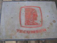 Tecumseh vintage advertising floor carpet store entryway mat 35x24 1970s rough