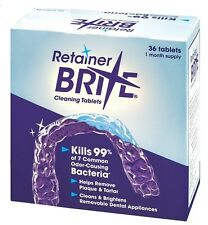 Retainer Brite Cleaning Tablets Oral Dental Braces MouthGuards Nightguards Align