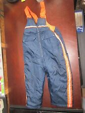 French Toast 3T Blue Orange snow pants ski suit Pants bibs cute sledding cold
