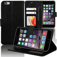 Etui Coque Housse Portefeuille Support Video NOIR Apple iPhone 6S Plus 5.5""
