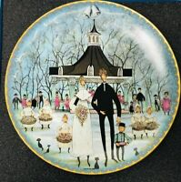 "P BUCKLEY MOSS ""SUMMER WEDDING"" COLLECTOR PLATE SINGLE ISSUE 1992 MINT"