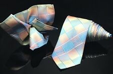 Pierre Cardin Mens Rainbow 🌈 Tie and Pocket square New