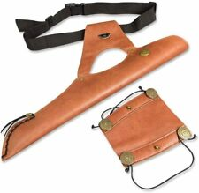 Archery Arrows Quiver Holder Waist Bag Arm Guard Leather Bow Target Protector