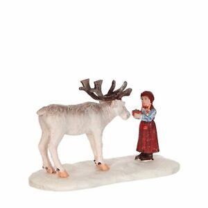 LUVILLE Girl With Reindeer (252), Weihnachtsdorf, Weihnachtsfiguren, Modellbau