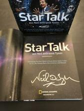 "NEIL DEGRASSE TYSON SIGNED AUTOGRAPH ""STAR TALK"" HARDCOVER BOOK - NATGEO, RARE!"