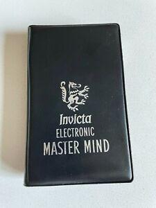 Vintage 1977 Invicta Electronic Master Mind Handheld Game Tested Works