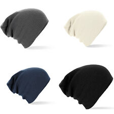 SLOUCH BEANIE HAT OVERSIZED - FOUR COLOURS: NAVY, BLACK, OFF-WHITE, GREY B461