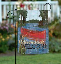 New Toland - Rustic Lake Life Adirondack Welcome - Outdoors Canoe Garden Flag