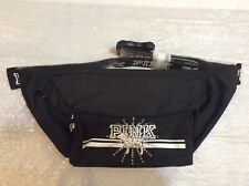 Victoria's secret Pink NWT Bling Pink dog Black Belt Bag (O/S)