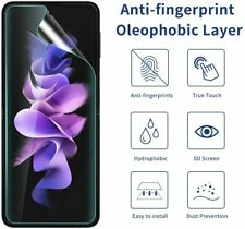 2X For Samsung Galaxy Z Flip 3 5G Soft Hydrogel Film Full Cover Screen Protector