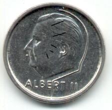 1 Franc Belgique Fauté, 1995, FR, haut du 1 cassé.
