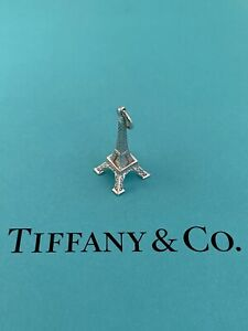 Tiffany & Co Sterling Silver Eiffel Tower Charm Pendant For Necklace Or Brac