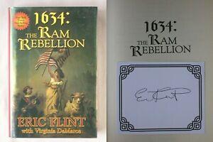 Signed 1st Ed 1634 RAM REBELLION Eric Flint 2006 HARDCOVER RING OF FIRE BOOK