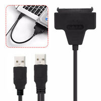 "USB2.0 to SATA7+15Pin 22 to 2.5"" HDD Hard Disk Drive Cable Adapter for PC Laptop"