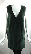 BOTTEGA VENETA Green Suede Sleeveless Shift Tunic Dress Size 2