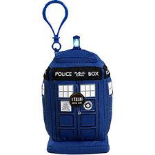 "*NEW* Doctor Dr Who Talking Plush TARDIS Mini 11cm 4"" Clip-On Keychain"