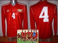 Myanmar 4 Adidas L/s Camisa Camiseta Fútbol adulto medio Trikot Maglia BNWOT Asia