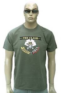 Official THE CLASH Merchadise Straight to Hell Rock Star Poker Skull T-Shirt S