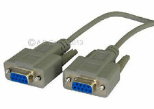 3m RS232 Serial Null módem Cable DB9 Hembra A DB9F RS 232 IDEAL INTERMITENTE
