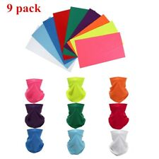 9 packs Multi-use Solid Tube Scarf Bandana Face Neck Gaiter Sun-shield Head Wear