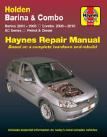 Holden Barina 2001-2005/Combo XC 2005-2010 Repair Manual