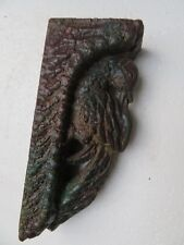 Antique Architectural Carved Wood remanent reclaimed wall decor Color Bird 1900