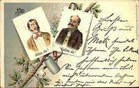 """1899 """"Alles Da! Dalles da!"""" Scherz Humor Postkarte gelaufen mit Stempel Metz"""