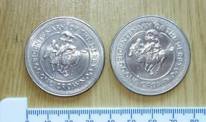 1x 1980 Bicentenary Of The Derby Isle of Man ONE CROWN > UNC <