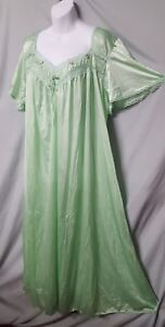 """Only Necessities LIME GREEN Nightgown Long Plus Size 2X  60"""" BUST"""