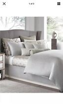 Hotel Collection Finest Bed Linen Silver Leaf KING Duvet Cover-Brand New