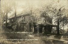 Newton Centre MA Dr. Smith's House c1910 Real Photo Postcard