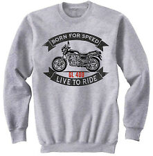 HONDA GL 400 - NEW COTTON GREY SWEATSHIRT ALL SIZES IN STOCK