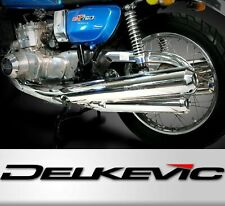 Delkevic PR1714 Mufflers Chrome Exhaust System for Suzuki GT750 (1975 - 1977)