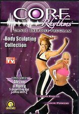 CORE Rhythms DANCE EXERCISE BODY SCULPTING WORKOUT PROGRAM SEEN ON TV! 3 DVD Set