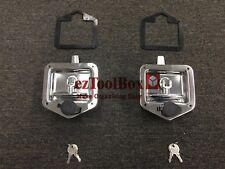 2x FOLDING T-HANDLE LOCK RECESSED STAINLESS TRAILER CARAVAN TOOLBOX T-LOCK