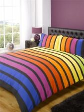 Lenzuola e biancheria da letto multicolore di dimensioni 1 piazza, singolo a fantasia righe