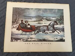 Currier And Ives The Road Winter O. Knirsch Lithography