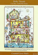 Bothy Threads Cut Thru Pôle Nord Maison Noël Compté Cross Stitch Kit-NOUVEAU