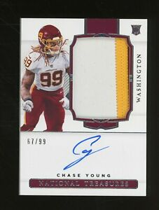 2020 National Treasures Chase Young RPA RC Rookie Patch AUTO 67/99